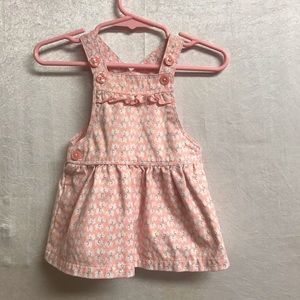 Baby Girls Carter Elephant overall Dress Size 3M